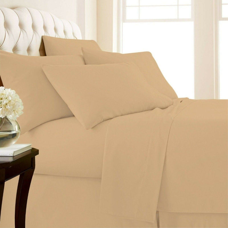 4-Piece Set: 1000 Thread Count Egyptian Cotton Sheets Linen & Bedding Twin Linen - DailySale