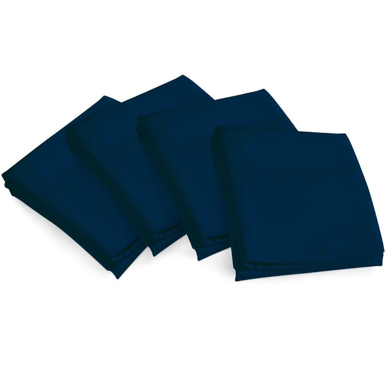 4-Piece Set: Bamboo Premium Ultra Soft Pillow Case - Assorted Colors and Sizes Linen & Bedding King Navy - DailySale
