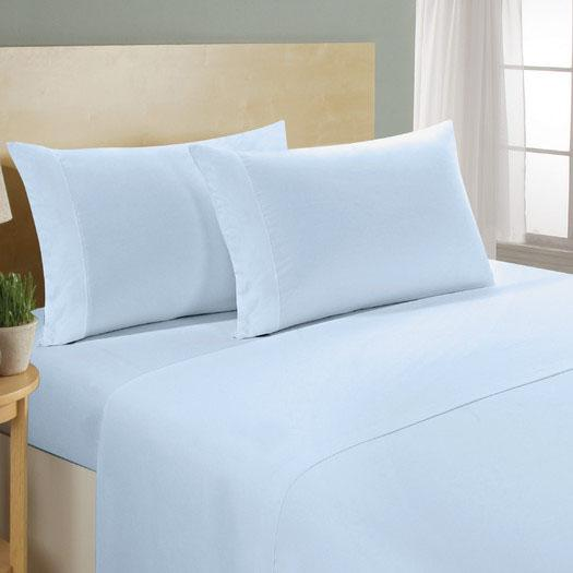 4-Piece Set: Luxury Comfort 300 Thread Count Sheet Linen & Bedding Queen Blue - DailySale