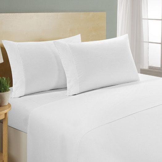 4-Piece Set: Luxury Comfort 300 Thread Count Sheet Linen & Bedding Queen White - DailySale