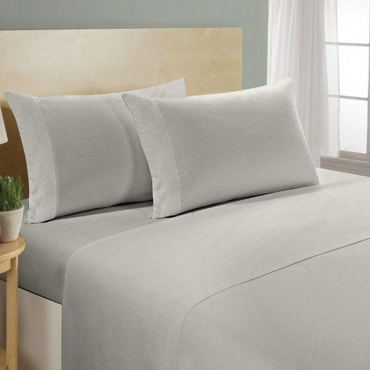 4-Piece Set: Luxury Comfort 300 Thread Count Sheet Linen & Bedding Twin Gray - DailySale