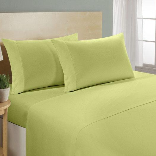 4-Piece Set: Luxury Comfort 300 Thread Count Sheet Linen & Bedding Twin Sage - DailySale