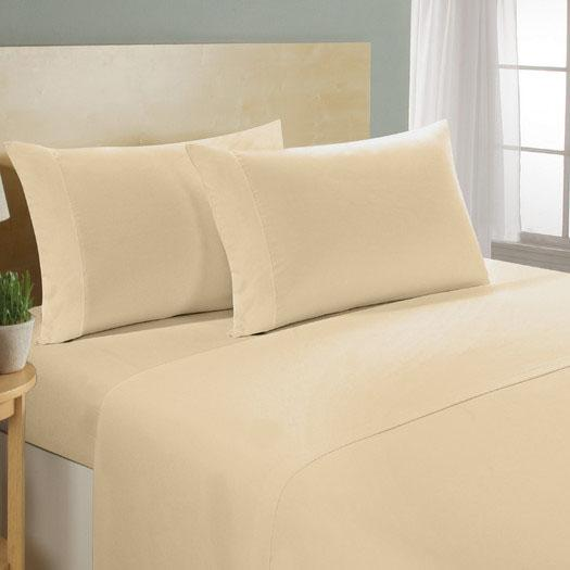 4-Piece Set: Luxury Comfort 300 Thread Count Sheet Linen & Bedding Twin Taupe - DailySale