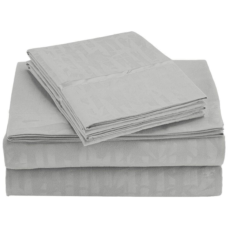 4-Piece Set: Super-Soft 1600 Series Bamboo Embossed Bed Sheet Linen & Bedding Full White - DailySale