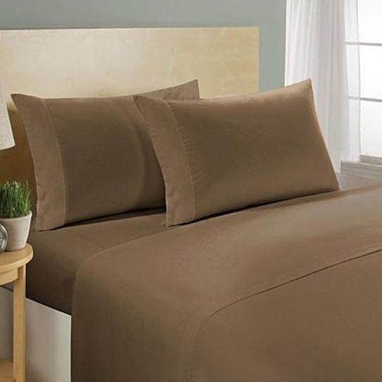 4-Piece Set: Ultra Soft 1800 Series Bamboo Blend Sheets Bedding Twin Coffee - DailySale