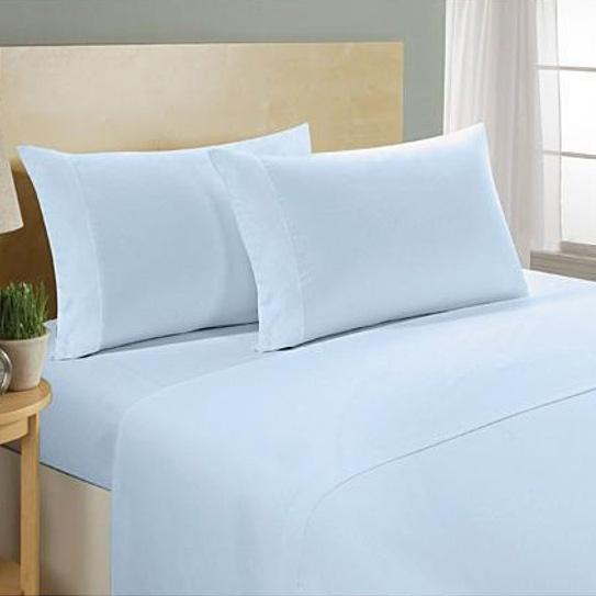 4-Piece Set: Ultra Soft 1800 Series Bamboo Blend Sheets Bedding Twin Light Blue - DailySale