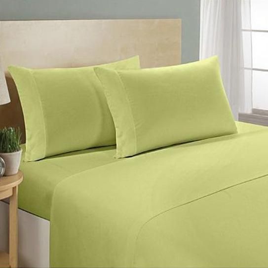 4-Piece Set: Ultra Soft 1800 Series Bamboo Blend Sheets Bedding Twin Sage - DailySale