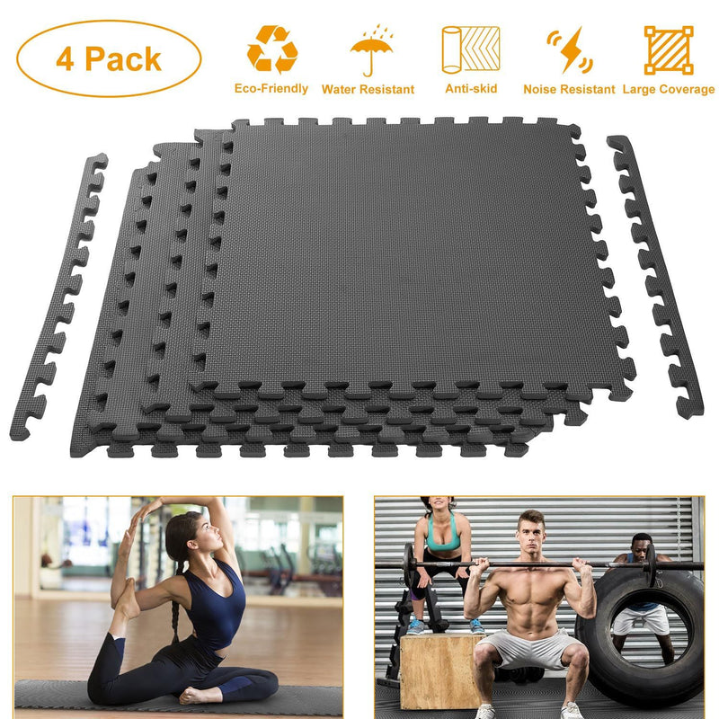 4-Pieces: Puzzle Exercise Foam Mat Fitness - DailySale