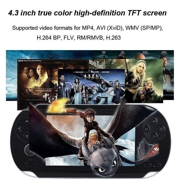 4.3 inch Game Console 3000 Games Built-in Video Camera Retro Video Games & Consoles - DailySale