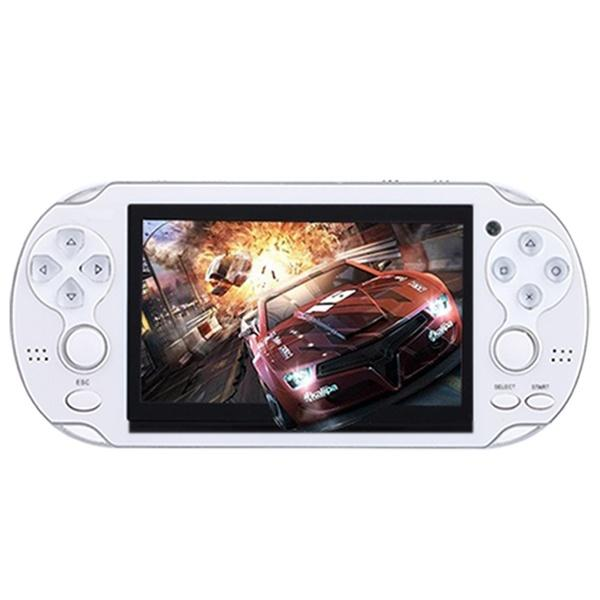 4.3 inch Game Console 3000 Games Built-in Video Camera Retro Video Games & Consoles White - DailySale