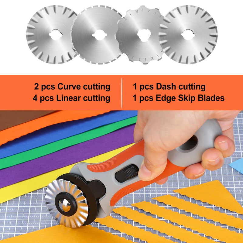 45mm Rotary Cutter Set with 8 Replacement Blades Everything Else - DailySale