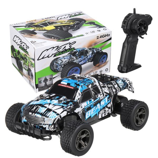 48KM/H 2.4ghz 1:20 Remote Control Car High Speed RC Truck Toys & Games Blue - DailySale