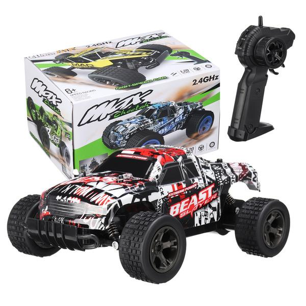 48KM/H 2.4ghz 1:20 Remote Control Car High Speed RC Truck Toys & Games Red - DailySale