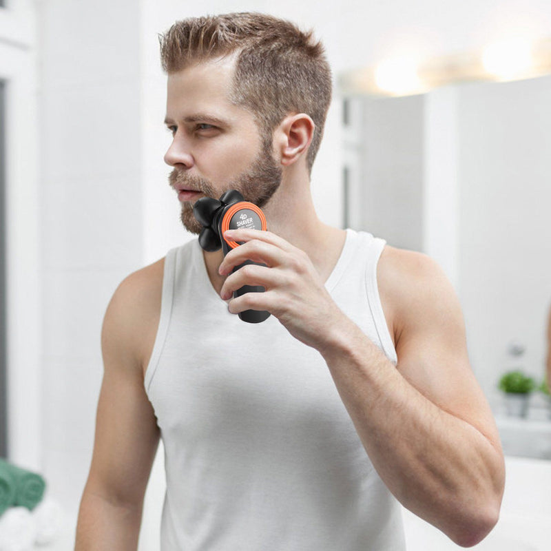 4D Electric Shavers Razor IPX7 Rechargeable Beard Trimmer Men's Grooming - DailySale