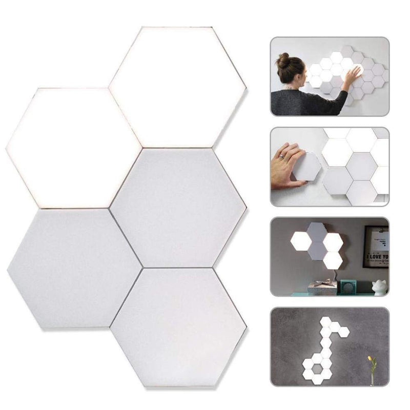 5-Pack: Hexagonal Touch Sensitive LED Honeycomb Wall Night Lights Home Lighting - DailySale