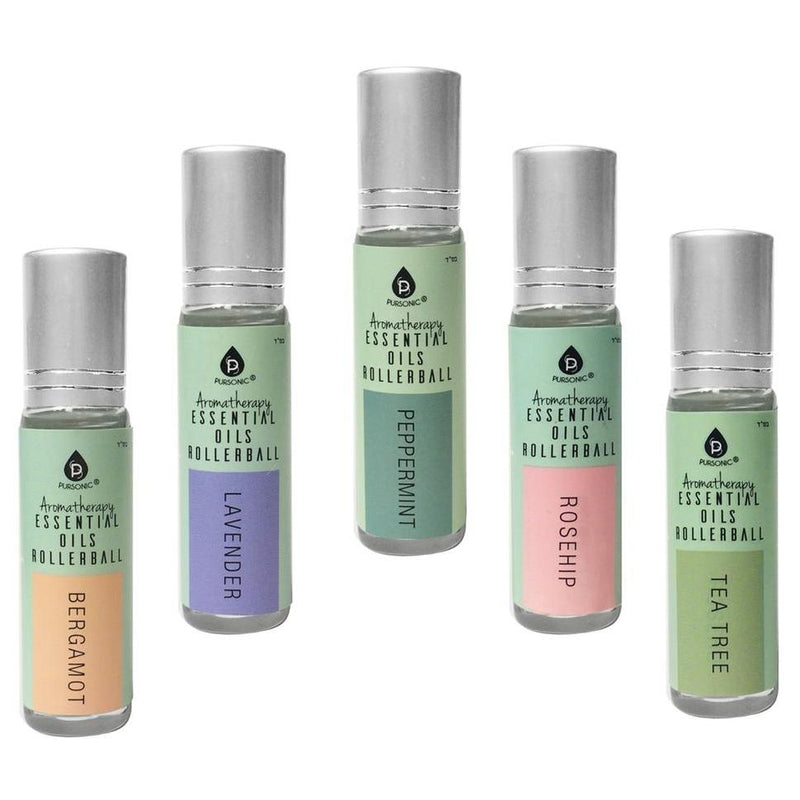 5-Pack: Pursonic Aromatherapy Essential Oils Rollerball Beauty & Personal Care - DailySale