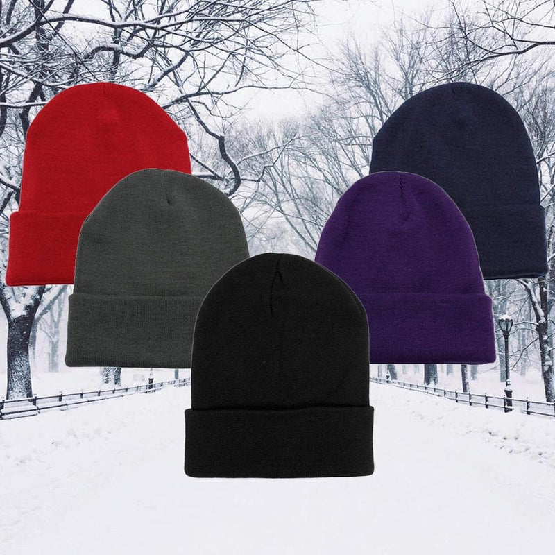 5-Pack: Thermal Windproof Winter Beanie Hat Women's Apparel - DailySale