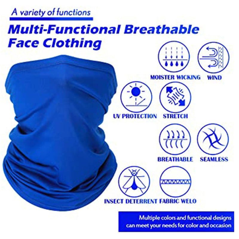 5-Pack: Unisex Moisture Wicking Gaiter Face Neck Scarf Bandanna Face Masks & PPE - DailySale