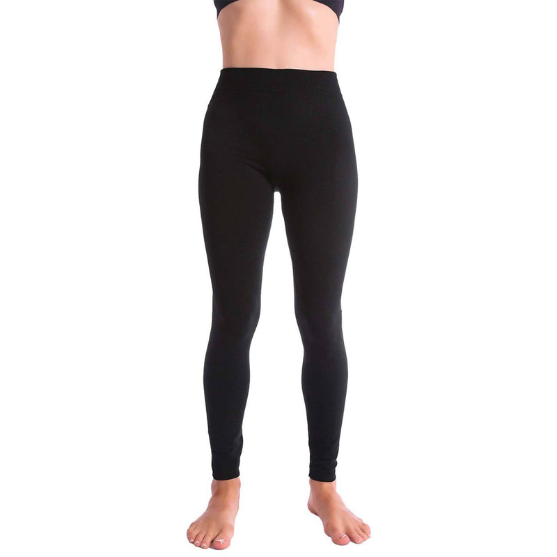 5-Pack: Women's Premium Fleece-Lined Leggings Women's Clothing - DailySale