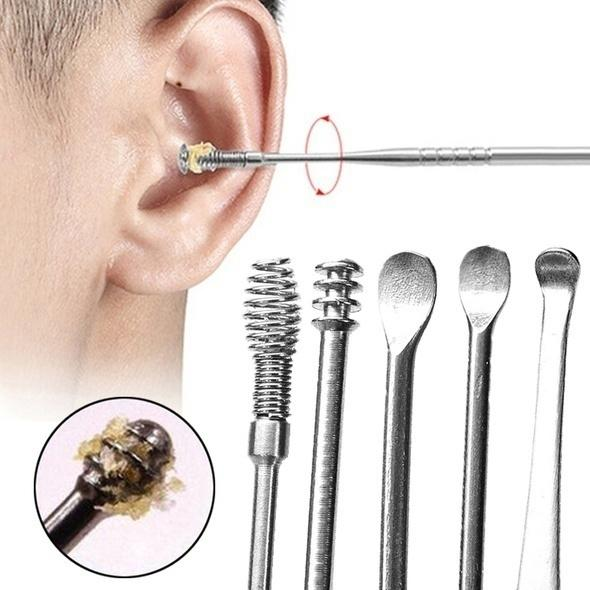 5-Piece: Stainless Steel Earpick Set Beauty & Personal Care - DailySale