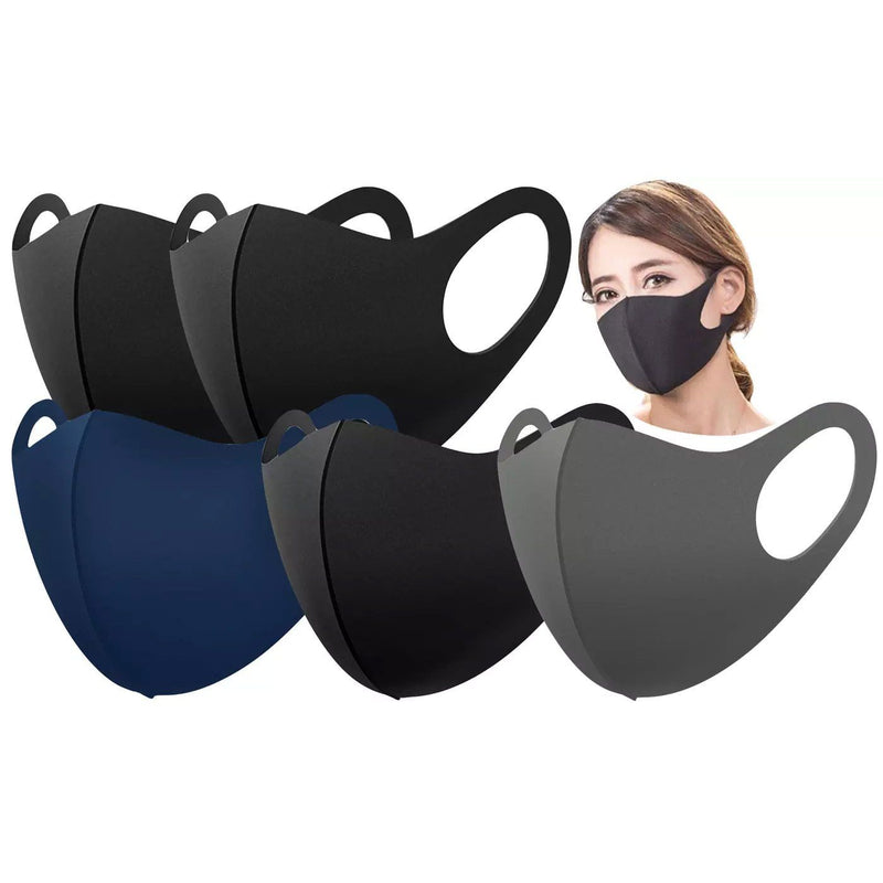 5-Pieces: 2-Ply Fabric Reusable Face Masks - Unisex Adult Face Masks & PPE - DailySale