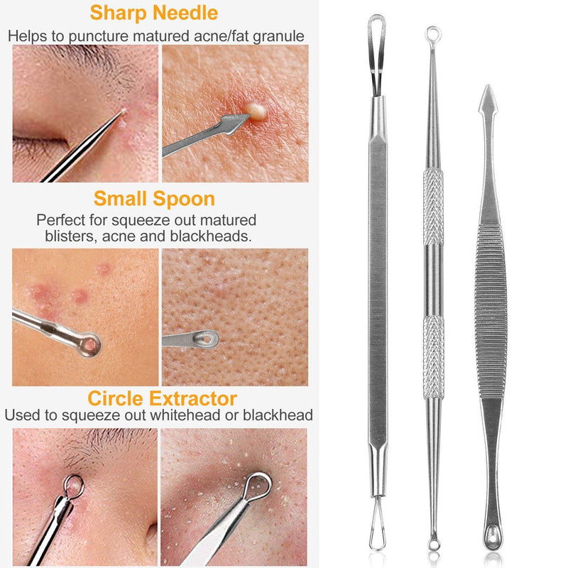 5-Pieces Set: BlackHead Remover Kit Pimple Comedone Extractor Tool Set Beauty & Personal Care - DailySale