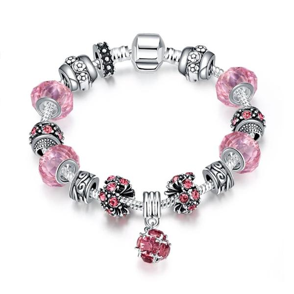 50 Shades of Pink Pandora Inspired Bracelet Jewelry - DailySale