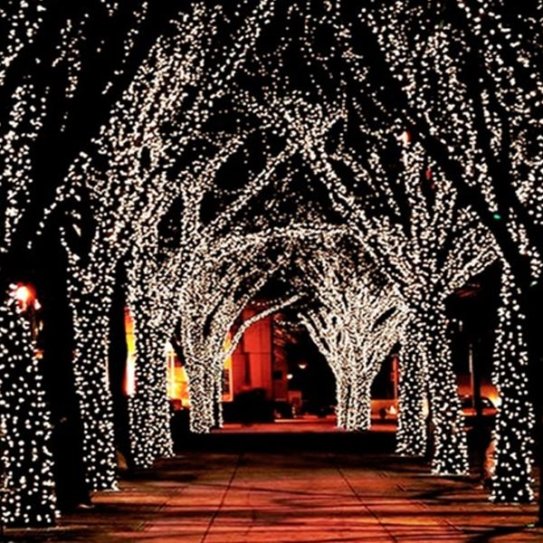 55' Solar-Powered 100-LED Fairy Light String - Warm White Home Lighting - DailySale