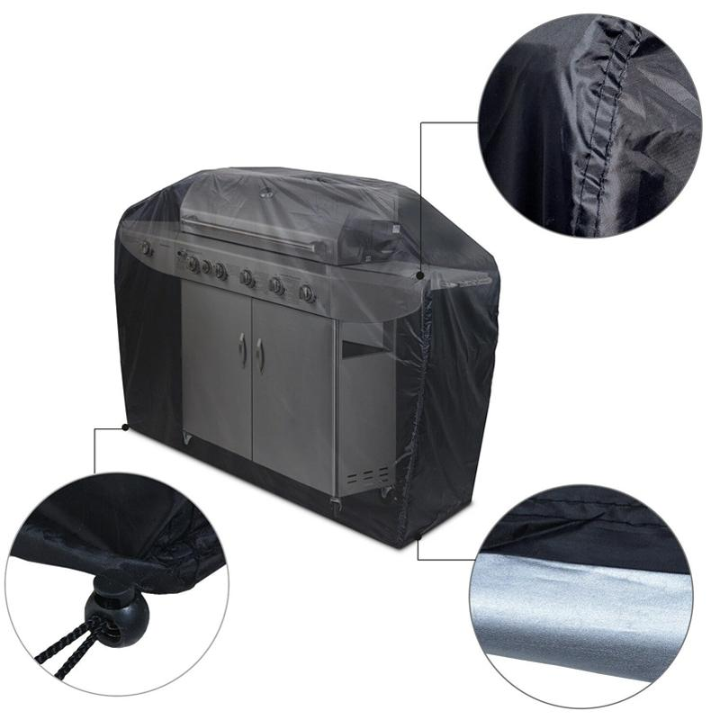 "57"" Black Barbecue Gas Grill Waterproof Cover Home Essentials - DailySale"