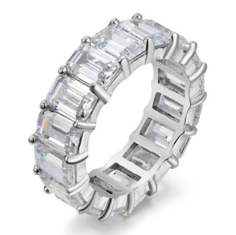 5MM Emerald Cut Eternity Band Rings 5 - DailySale
