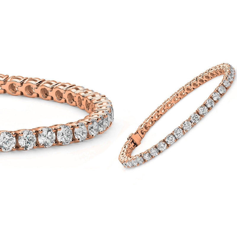 5MM Round Cubic Zirconia Tennis Bracelet Bracelets Rose Gold - DailySale