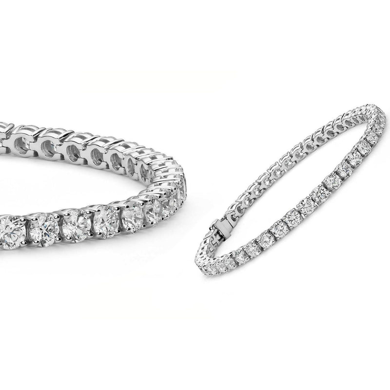 5MM Round Cubic Zirconia Tennis Bracelet Bracelets White Gold - DailySale