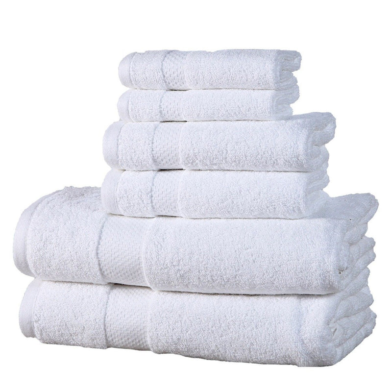 6-Pack: 100% Cotton Towel Set - Assorted Colors Home Essentials White - DailySale