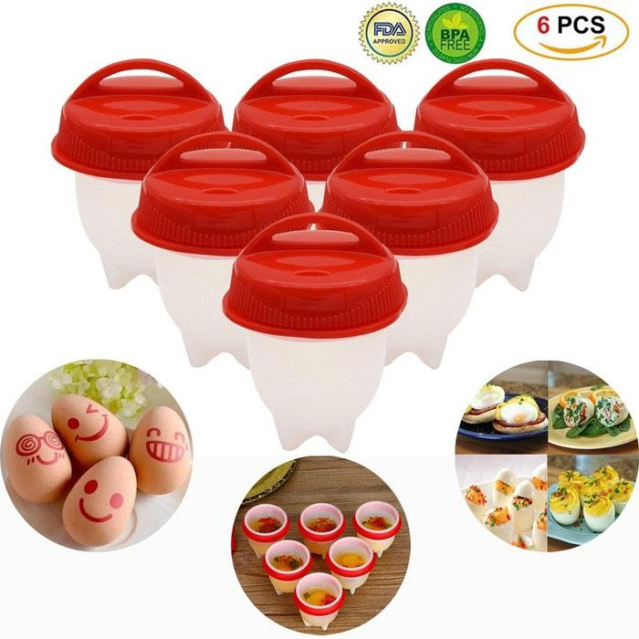 6-Pack: As Seen on TV BriteNway Silicone Egg Cooker Kitchen Essentials - DailySale
