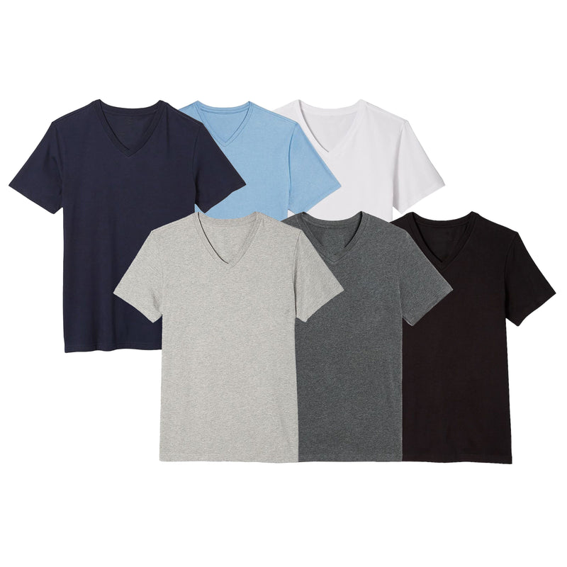 6-Pack: Boy's Assorted S/S V-Neck Tees Men's Clothing XS - DailySale