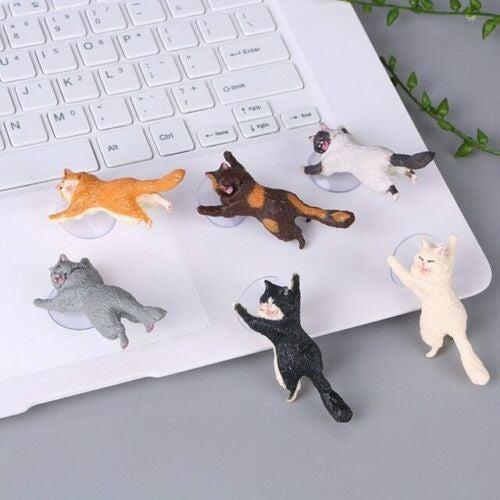 6-Pack: Cat Themed Suction Cup Phone Holder Mobile Accessories - DailySale