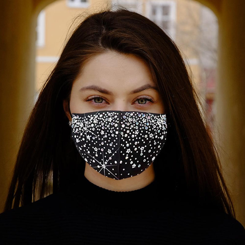 6-Pack: Celebrity Holiday Bling Rhinestone Face Mask Face Masks & PPE - DailySale