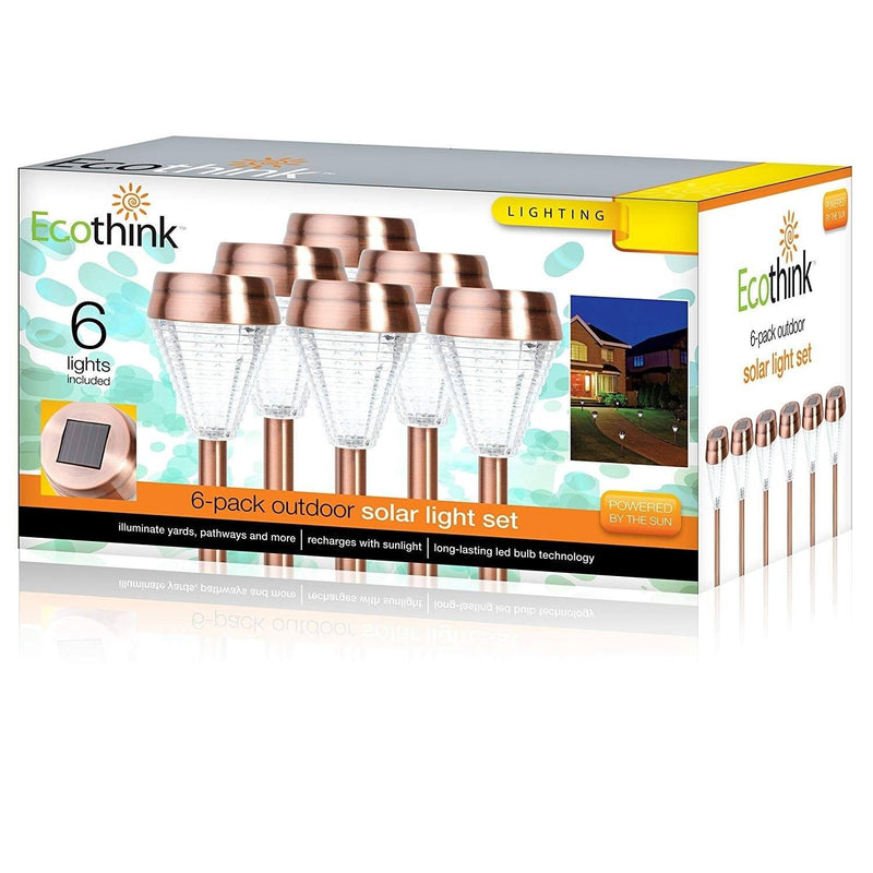 6-Pack: EcoThink Outdoor Solar LED Pathway Light Home Lighting - DailySale