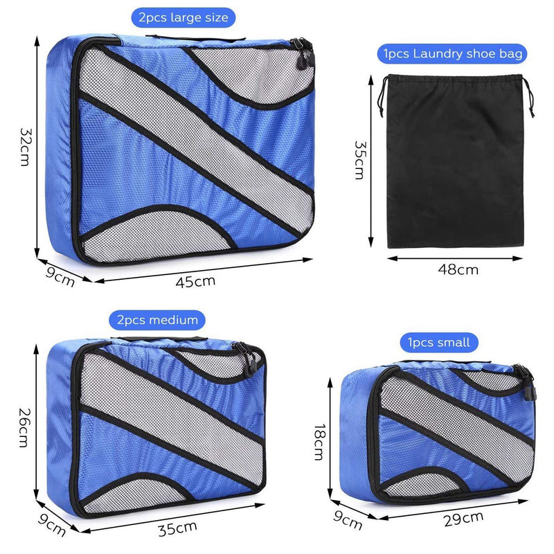6-Pack: Fitnate Compression Packing Cubes Bags & Travel - DailySale