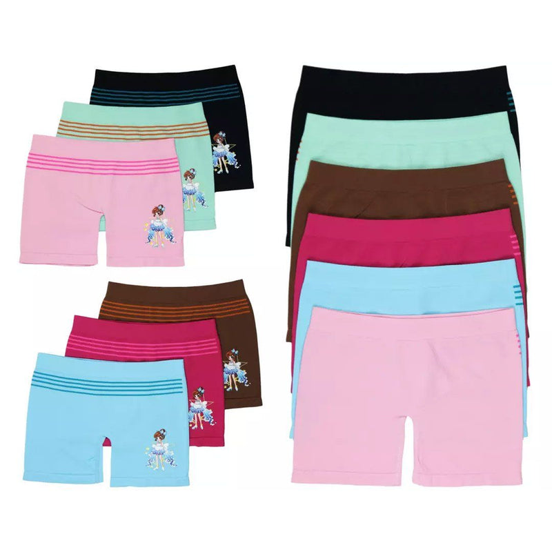 6-Pack: Girl's Mystery Seamless Lightweight Layering Shorts Women's Clothing - DailySale