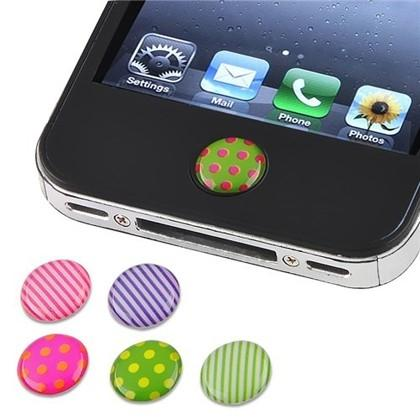 6 Pack Home Button Stickers for iPhone iPad and iPod Phones & Accessories - DailySale