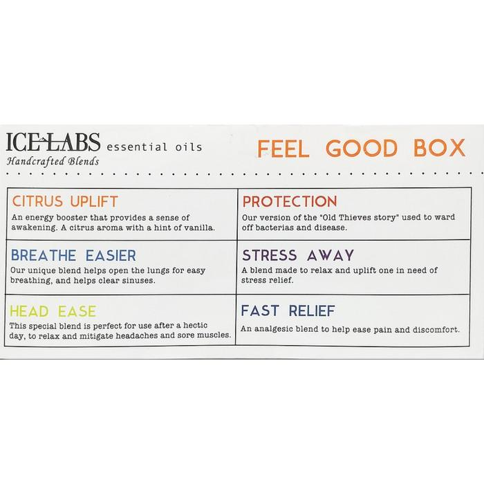 6-Pack: IceLabs Feel Good Essential Oil Set Wellness & Fitness - DailySale