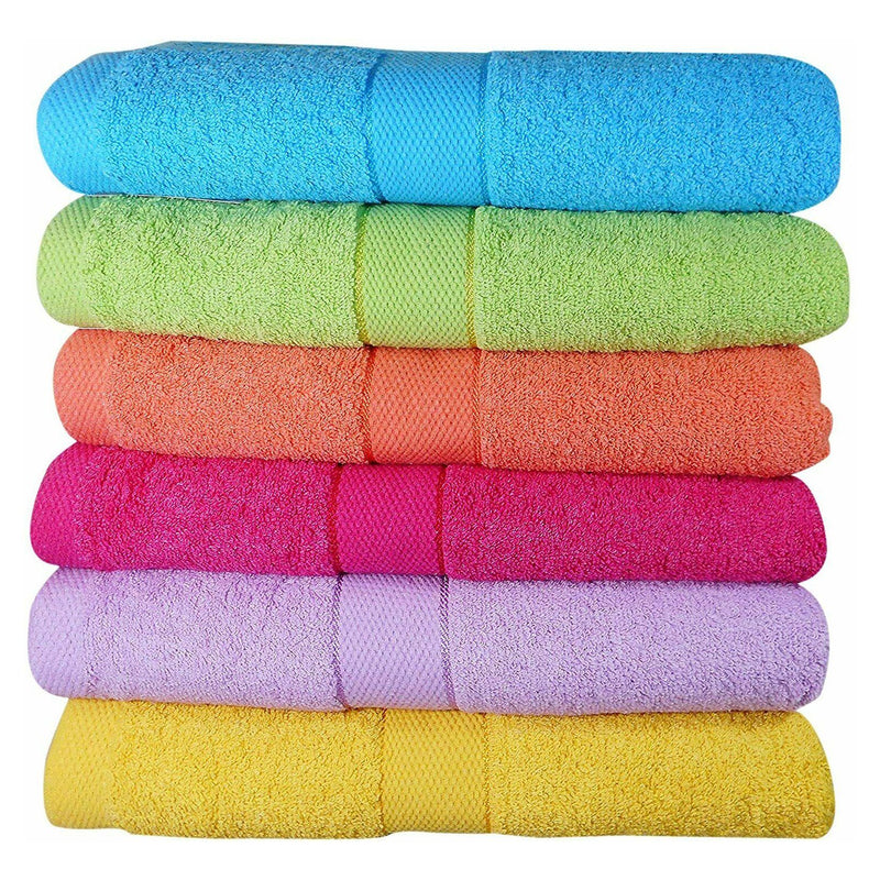 6-Pack: Imperial Luxury Bath Towel Set - Multi Color Bed & Bath Brights - DailySale