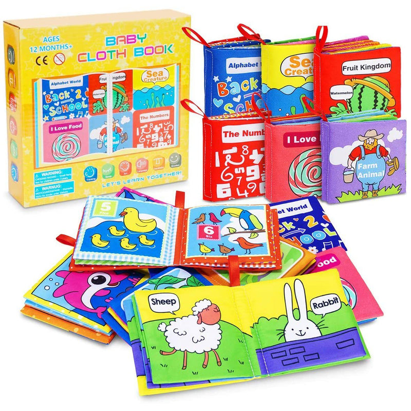 6-Pack: Magicfun Cloth Baby Books Baby - DailySale