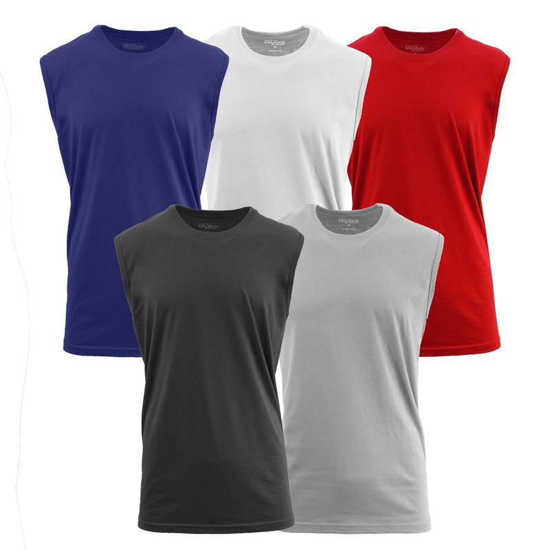 6-Pack: Men's Assorted Muscle Tank Tee Men's Clothing M - DailySale