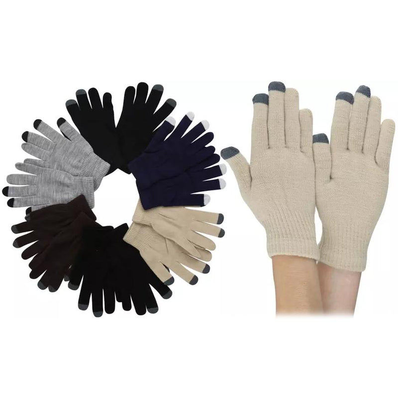 6-Pack: Men's Plain Acrylic Magic Gloves with Contrast Tips Men's Accessories - DailySale