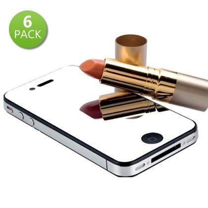6-Pack: Mirror Screen Protectors for iPhone 4 and 4S Phones & Accessories - DailySale