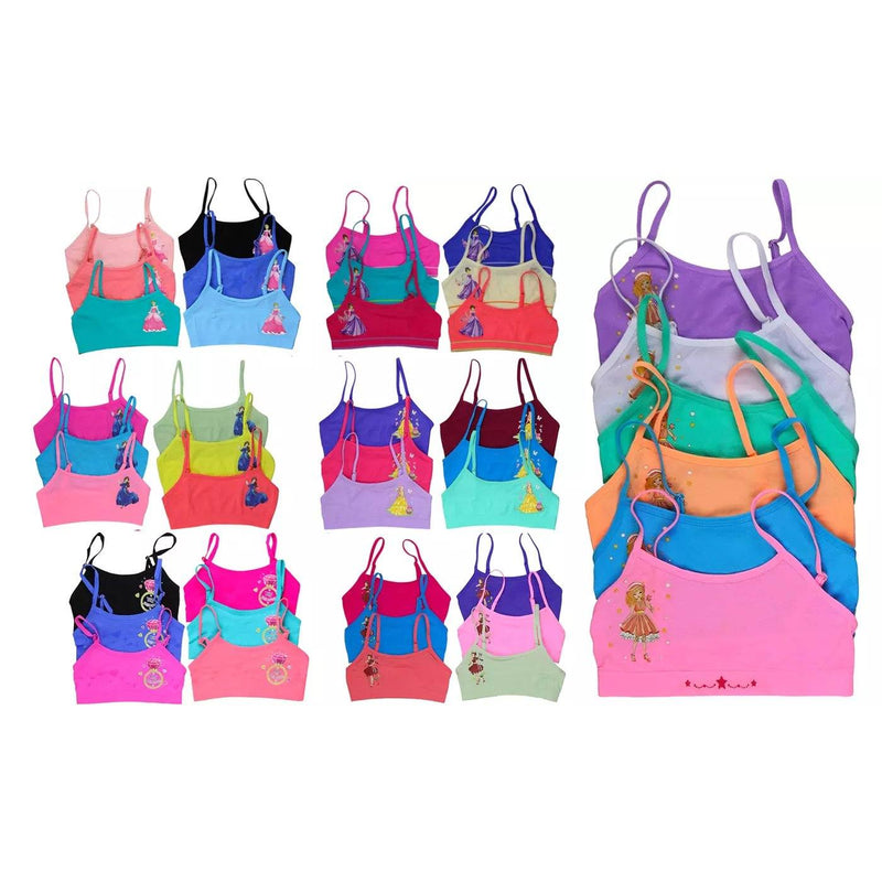 6-Pack: Mystery Girls' Training Bras Tops Women's Clothing Spaghetti Strap Cami S - DailySale