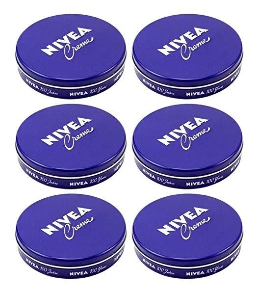 6-Pack: Nivea Cream Creme 2oz/60ml Body Face Skin Hand Cream Moisturizer Beauty & Personal Care - DailySale