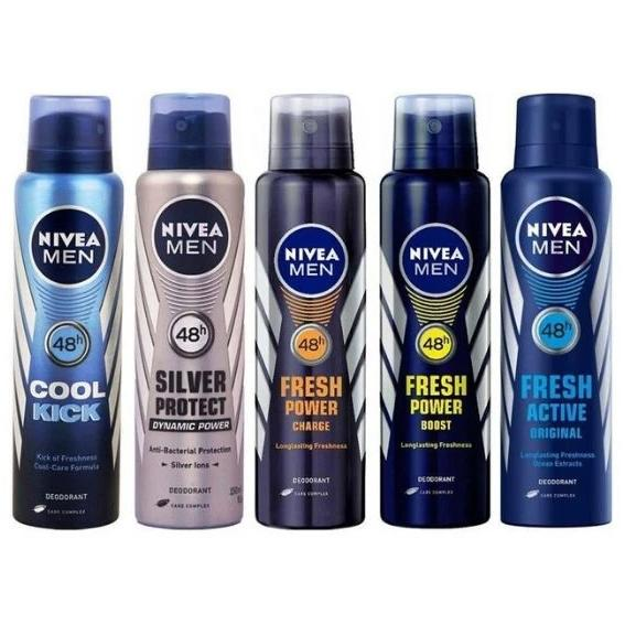 6-Pack: Nivea Men's Deodorant Antiperspirant Spray Beauty & Personal Care - DailySale